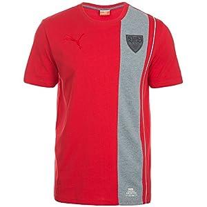 PUMA Herren T-Shirt VFB Stuttgart Archives Ringer Tee, Team Regal Red-Medium Gray Heather, M, 746518 02