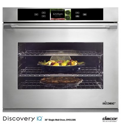 dacor-dyo130fs-48-cu-ft-single-wall-oven-electronic-controls-steam-clean-10-cooking-modes-7-rack-pos