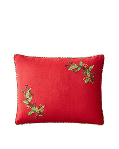 April Cornell Holly Cushion, Red