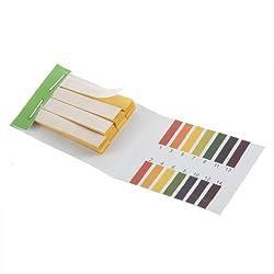 YKS 5841611 Full pH 1-14 Test Indicator Litmus Paper Water Soil Testing Kit, 80 Strips