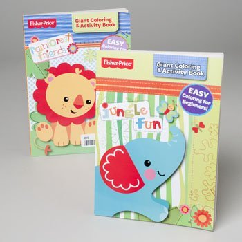 Fisher-Price Giant Easy Coloring & Activity Book for Beginners (Assorted, Styles Vary) - 1