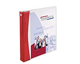 Avery Comfort Touch Durable View Binder with 1-Inch Rings, 1 Binder, White with Red Spine (17438)