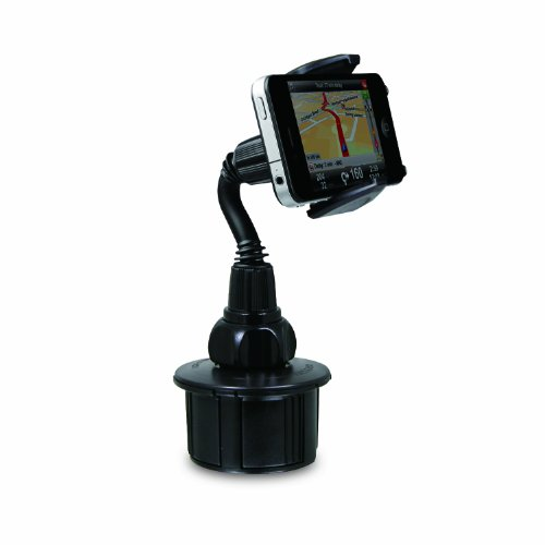 Macally Mcup Adjustable Automobile Cup Holder For Iphone, Ipod, Smartphones, Mp3 And Gps - Black front-17417