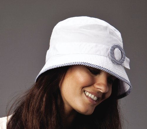 New Ladies Cotton Belt And Buckle Design Bucket Summer Fashion Hat
