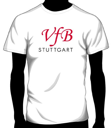 VfB Stuttgart Basic Logo Tee, Youth Large - White