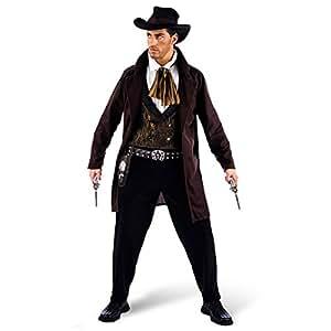 Cowboy Wild West Fancy Dress Costume - Mens - XL