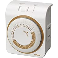 Woods Ind. 50000 Indoor 24-Hour Mechanical Timer-24 HOUR MECHANICAL TIMER