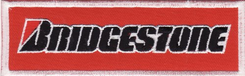 BRIDGESTONE RACING CAR EMBROIDERED IRON ON PATCH T223