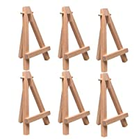 "US Art Supply® 5"" Mini Wood Display Easel Natural (6-Pack) by US Art Supply"