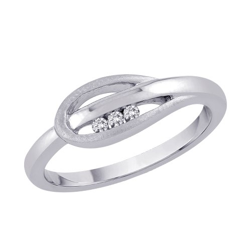 Sterling Silver 0.04 ct. Diamond Promise Ring