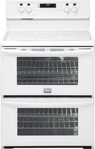 """Gallery Series 30"""" Electric Smoothtop Freestanding Range With Double Ovens Color: White"""