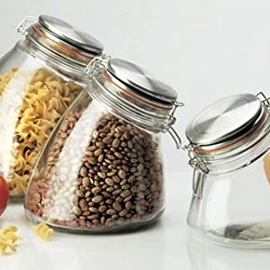 Kitchen Supply Slope Medium Hermetic Storage Jar, 56-Ounce by Kitchen Supply