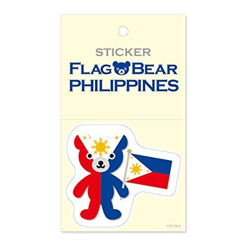 FLAG BEAR STICKER<PHILIPPINES> 国旗ステッカー フィリピン (大(L))