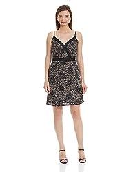 NUN Women's Empire Dress (NUNDR5243_Brown_L)