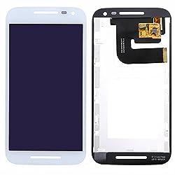 Online For Good(TM) Full LCD Touch Digitizer Screen Replacement for Motorola MOTO G3 G 3rd Gen/ Motorola Moto G Turbo Edition - White