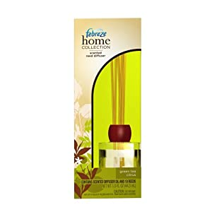 Febreze Home Collections Green Tea Citrus Scented Reed Diffuser, 1 Kit (Pack of 2)