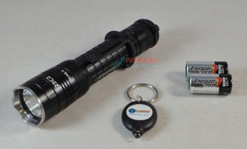 Eagletac T25C2 Cree Xm-L2 U2 Led 1180 Lumen Flashlight Combo With 2 Energizer Cr123A Lithium Batteries And Lightjunction Led Keychain Light