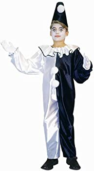 Child Pierrot Clown Suit