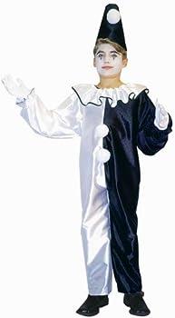 Child Pierrot Clown Suit