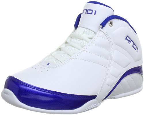 AND1 Rocket 3.0 Mid Boy's 1001301085, Scarpe da basket unisex bambino, Bianco (Weiß (white/white/royal)), 36.5