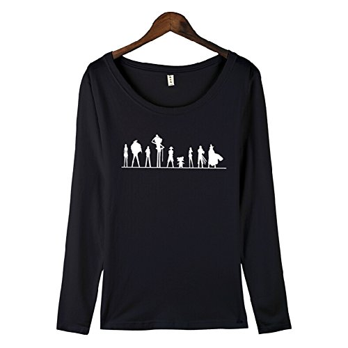 One Piece Anime The Pirates Costume Long Sleeve T Shirt, Asian Size, Five Colors