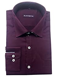 Blacksmith Men's Formal Shirt_1968096031BLSHIRT60S6_Italian Plum_40