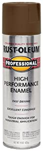 Rust-Oleum 239112 Professional Spray Paint, Flat Brown, 15-Ounce