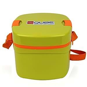 Cello Qube Plastic Container, 1.25 Litres, Pista