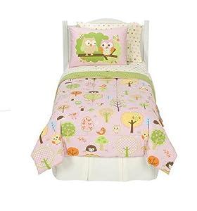 Circo Girls Love N Nature Owl Trees 5 Pc Comforter