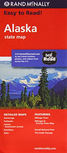 Rand Mcnally Easy to Read Alaska State Map