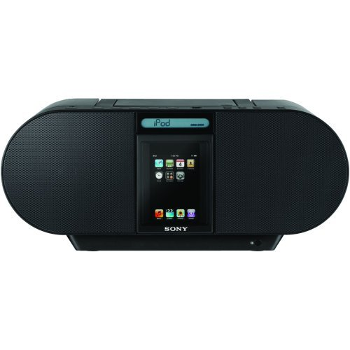Sony ZSS4IP CD Boombox with iPod Dock and iPhone (Black)