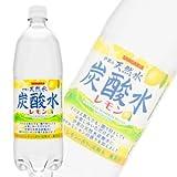 サンガリア 伊賀の天然水炭酸水レモン PET1L〔1000ml〕×12本入 【×2ケース:合計24本】 ランキングお取り寄せ