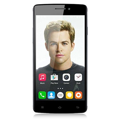 Cubot X12 Quad-Core Dual SIM FDD-LTE 4G-Smartphone 5,0'' Zoll HD IPS Screen Android 5.1 Handy ohne Vertrag 1G+8G Dual Kameras OTG GPS IR-Fernbedienung Schwarz