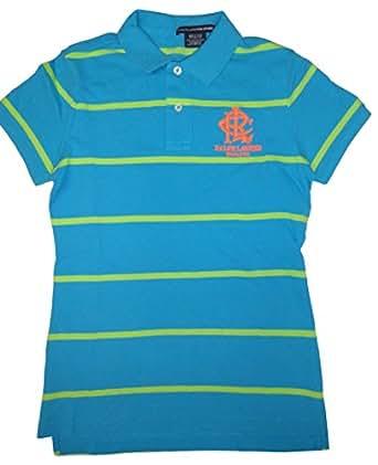 Polo Ralph Lauren Women 39 S Sport Stripe Rlc Logo Polo Shirt
