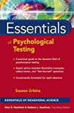 img - for By Susana Urbina - Essentials of Psychological Testing: 1st (first) Edition book / textbook / text book