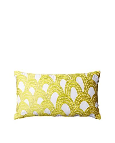"Trina Turk Tangier Stripe Pillow, Yellow, 10"" x 18"""