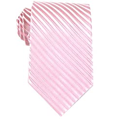 Bruno Piattelli Mens Pink Formal Stripe Silk Neck Tie