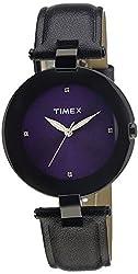 Timex Fashion Analog Purple Dial Womens Watch - J403