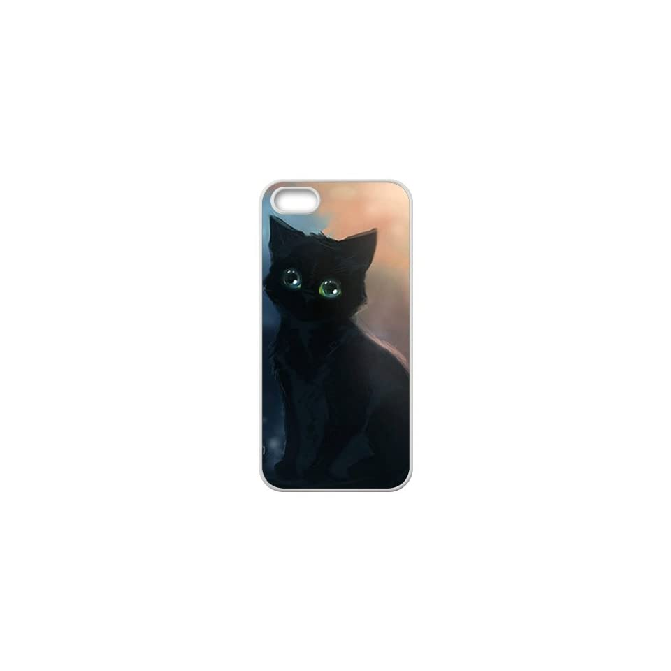 ICASE MAX Lovely Black Cat Design for Best Iphone Case TPU Iphone 5 Case (AT&T/Verizon/Sprint) Cell Phones & Accessories