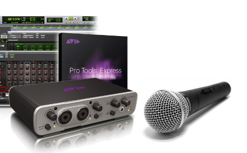 Avid Fast Track Duo With Pro Tools Express Software Shure Sm58 Microphone