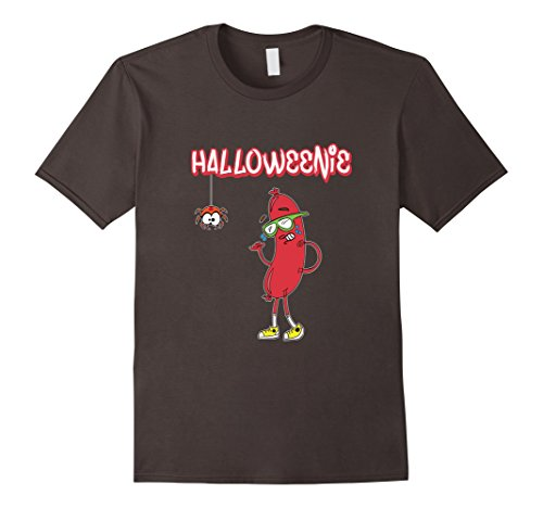 [Men's Halloweenie Funny Spider Hot Dog Weiner Cute Costume T-Shirt 2XL Asphalt] (Funny Weiner Dog Costumes)