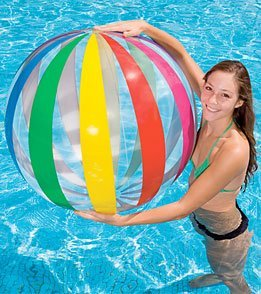 Intex Jumbo Inflatable Glossy Big Panel Colorful Giant Beach Ball 42