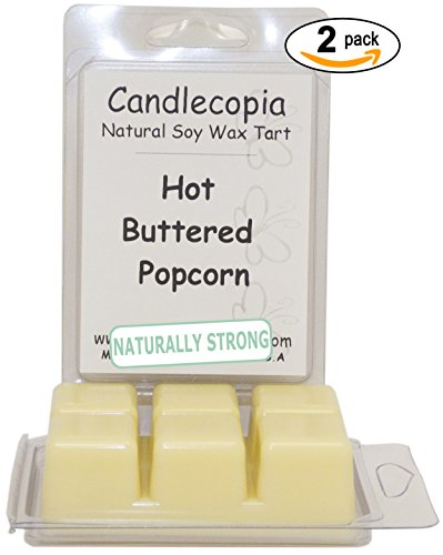 Candlecopia Hot Buttered Popcorn 6.4 oz Scented Wax Melts - Bring the excitement and smell of the movies into your living room! Fresh cooked popcorn with hot butter poured on top - 2-Pack of naturally strong scented soy wax cubes throw 50+ hours of fragrance when melted in Scentsy®, Yankee Candle® or standard electric tart warmer (Popcorn Cube compare prices)