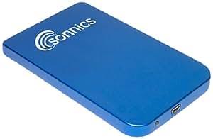 """Sonnics - 320 Go - Bleu Disque dur externe portable USB 2.0 pour smart TV, pc, mac, PS3 - Extra fin 2,5"""""""
