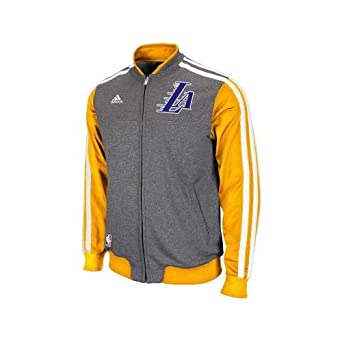 Los Angeles Lakers Adidas NBA On-Court Second Half Jacket XXL by adidas