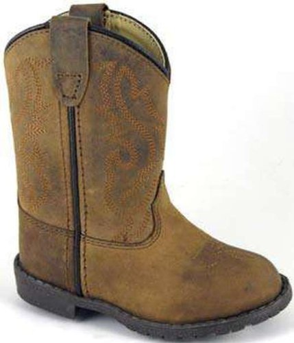 Smoky Mountain Toddler-Boys' Hopalong Western Boot Round Toe Brown US