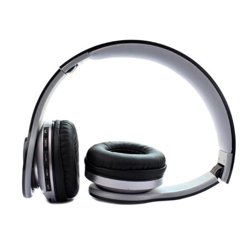 Zhipingshop High Quality Foldable Wireless Bluetooth Stereo Headset Headphones Mic For Iphone Samsung Htc (Black)
