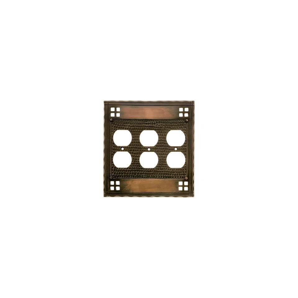 Switch plates arts and crafts arts and crafts triple for Arts and crafts outlet covers