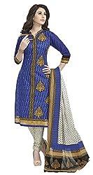Aarvi Fashion Ethnicwear Women's Dress Material(Purple_Free Size)