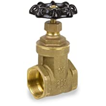 Smith-Cooper International 8501 Series Brass Gate Valve, Non-Rising Stem, Inline, NPT Female